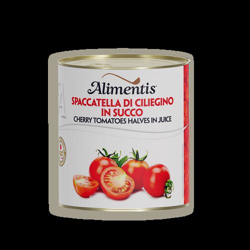 Spaccatella de tomate cherry en jugo