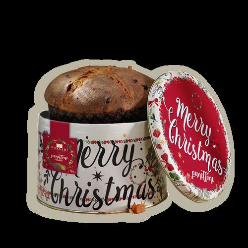 "Panettone clasico en lata ""merry christmas"""