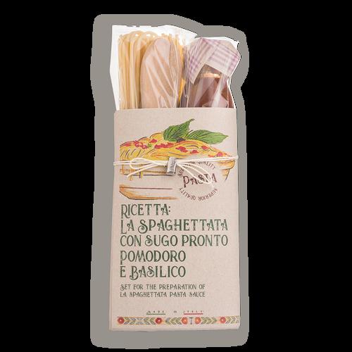 Spaghettata Con Tomate Y Albahaca