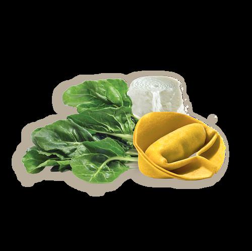 Giganti Con Ricotta Y Verduras