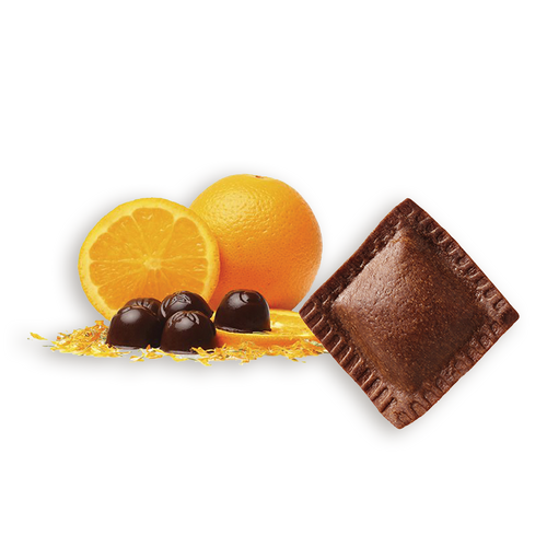 Quadrelli De Chocolate Con Cáscara De Naranja